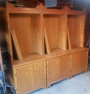 Nice Large Solid Oak Cabinets / Shelves for Sale in Austin, TX