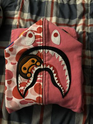 Pink Bape shark hoodie babe milo m for Sale in La Mesa, CA