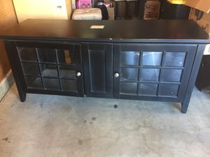 TV stand with shelves, glass door : 5feet wide need gone for Sale in Niland, CA