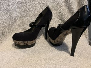 Black and snake heels for Sale in Cordova, SC