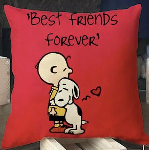 Decorative Pillow Charlie and Snoopy BFF for Sale in San Diego, CA