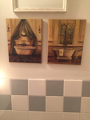Bathroom framed paintings for Sale in New York, NY