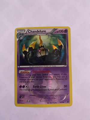 Holographic chandelure pokemon card for Sale in Hayward, CA