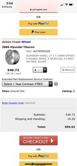 06 Hyundai Tiburon rims (4) for Sale in Peoria,  AZ