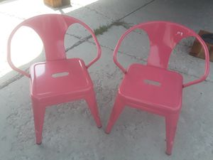 2 brand new pink steel kids chairs for Sale in South Jordan, UT