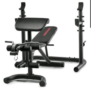 Weider XRS 20 Olympic Workout Bench with Independent Squat Rack and Preacher Pad for Sale in College Park, MD