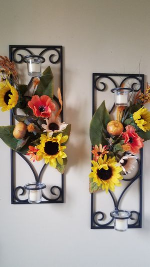 Thanksgiving Wall Metal Candle Holders for Sale in Downey, CA