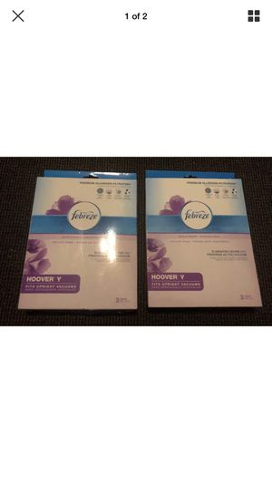 2 Pack - Febreze -Vacuum Bag - Hoover Y for Sale for sale  South Euclid, OH