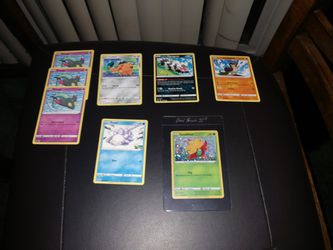 Pokemon Commons General Mills Promo. With Holo Gossifleur. I Have 5 Of The 7 Commons for Sale in Redmond,  WA