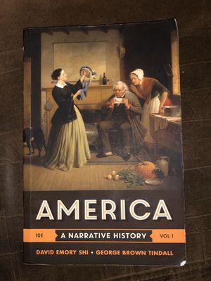 America, 10E A Narrative History Vol 1 for Sale in San Antonio, TX