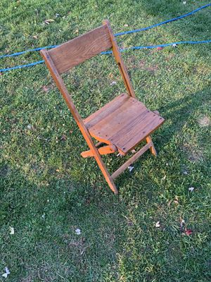 Wooden , folding chairs for Sale in Utica, MI