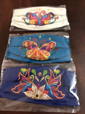 Adult Butterflies Embroidered Face Mask for Sale in Phoenix, AZ