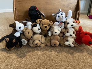 Collection of dog beanie babies for Sale in Edgewood, WA