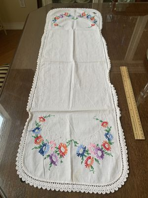 Antique table runner with hand embroidery for Sale in Chula Vista, CA