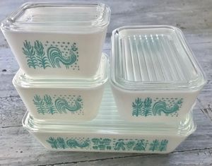 Amish print teal Pyrex fridgies for Sale in Lodi, CA