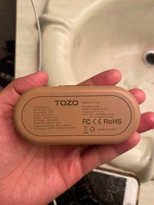 Tozo wireless bt headphones for Sale in Tempe, AZ