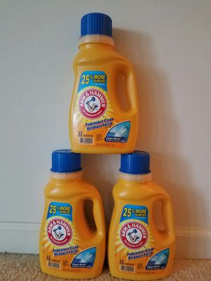 3 new Arm and Hammer liquid laundry detergent - $10 for Sale in Rockville, MD