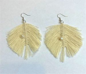 Leaf Dangle Earring with Natural fresh water Pearl for Sale in Peoria, IL