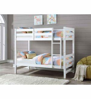 Bunk Bed (Twin/Twin) - 37785 - White/brown F9YUM for Sale in Diamond Bar, CA