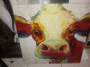 Cow canvas picture for Sale in Middle River, MD