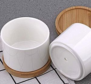 Mini Planter Pot with Bamboo holder for Sale in San Fernando, CA