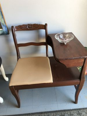 Antique Telephone table/chair for Sale in Boiling Springs, SC