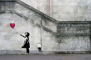 Banksy Girl With Balloon Framed Wall Art Print for Sale in Lodi, NJ