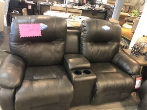 Leather sofa AND loveseat. NEW! Power headrest and footrest for Sale in Castro Valley, CA