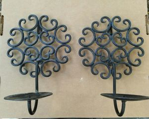 Black metal candle holder like new for Sale in Haines City, FL