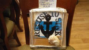 """Handmade/Hand Painted/Sand Filled """"Anchor"""" picture with the saying """"REFUSE TO SINK"""" for Sale in Harrisonburg, VA"""