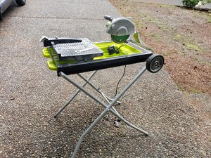 Ryobi 7-in Wet Sliding Table Tile Saw with Stand and Extra Blade. for Sale in Redmond, WA