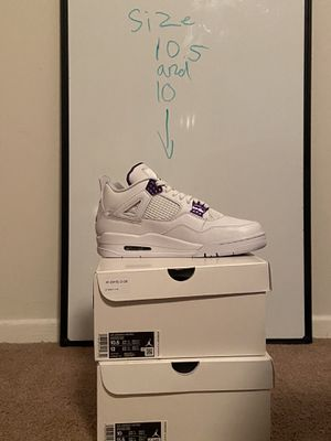 Air Jordan's retro 4 purple for Sale in Arlington, VA