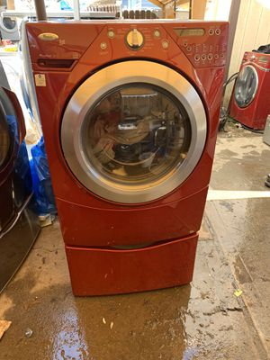 Whirlpool duet Front load washing machine with 3 months warranty freedelivery and installation for Sale in Oakland, CA