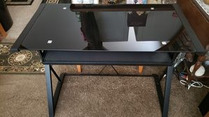 Black Tempered Glass Computer Desk, 38x30x20 big and spacious! for Sale in Roseville, CA
