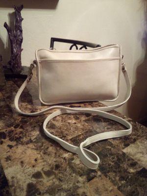 Vintage COACH Off White Genuine Glovetanned Soft Cowhide Leather Medium Crossbody Shoulder Bag Purse Handbag for Sale in Phoenix, AZ