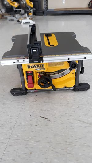 DEWALT FLEXVOLT 60-Volt MAX Lithium-Ion Cordless Brushless 8-1/4 in. Table Saw (Tool-Only) for Sale in Houston, TX