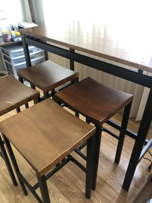 Wooden/Metal high table and chairs for Sale in Piedmont, CA