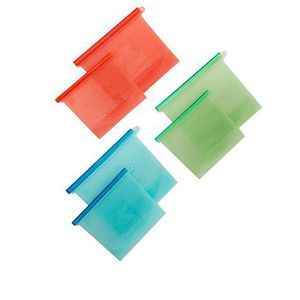 6 Reusable silicone food storage Bags for Sale in Lawndale, CA
