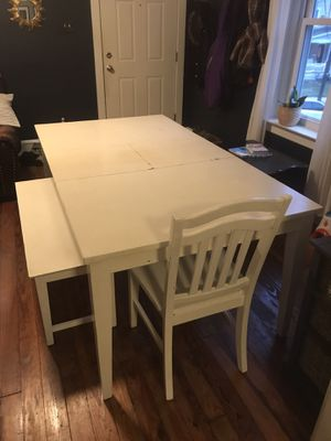 White dining room table for Sale in Souderton, PA