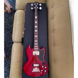Epiphone Bass Guitar EB-3 Cherry With Original Case - Excellent for Sale in Los Angeles,  CA