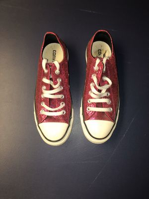 Pink Glitter Converse size 8 (worn once) for Sale in Dearborn Heights, MI