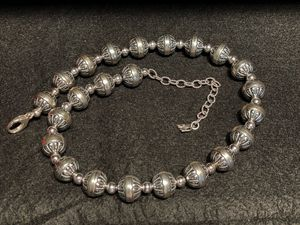 """American West Sterling Silver .925 Oxidized Stamped Bead 17"""" Necklace Southwest New for Sale in Los Angeles, CA"""