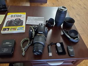 Complete Nikon DSLR D3100 Camera Set-up including Lenses and Bacpack for Sale in San Diego, CA