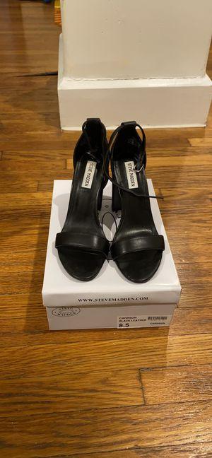 Steve Madden Black Leather Heels 8.5 for Sale in Boston, MA