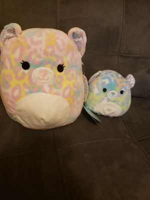 "Squishmallow Cats 8"" & 5"" for Sale in Bell Gardens, CA"
