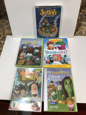 Five VeggieTales DVD Movies for Sale in Fair Oaks, CA