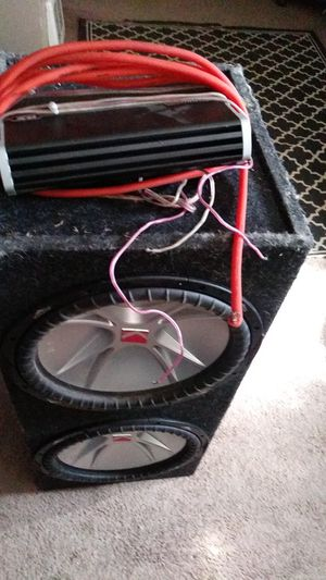 15 in kicker competition subwoofer cvr's with thousand watt monoblock kicker amp for Sale in Aurora, CO