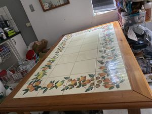 Dining Table with 4 matching ladder back chairs. for Sale in Martinez, CA
