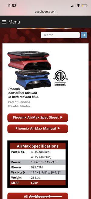 Fan Phoenix AirMax for Sale in Tampa, FL