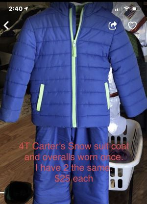 4T Carter's Snow Suit for Sale in University Place, WA